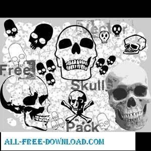 Free Vector Skulls Pack