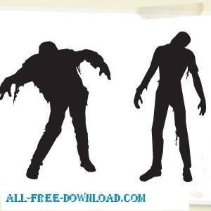 free vector Vector Zombies Halloween
