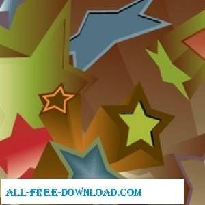 free vector 3 D Stars