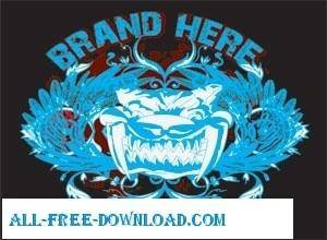 free vector Tattoo T shirt Vector Design