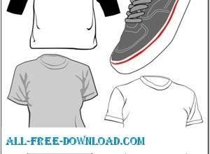 free vector Sneaker and T Shirt Vectors