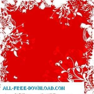 free vector Red and White Ornaments