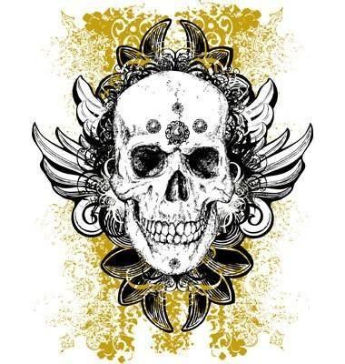 free vector Wicked vector skull illustration