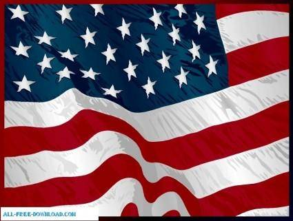 free vector American Flag 001