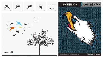 free vector Swallow trees vector hawks