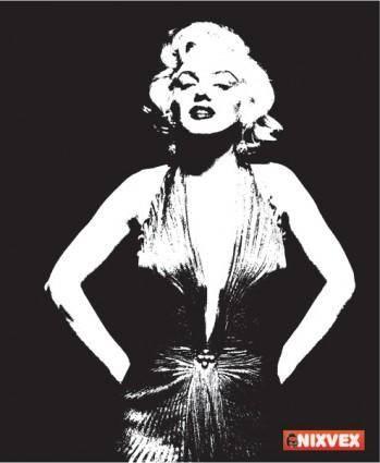 free vector NixVex Free Marilyn Monroe Vector