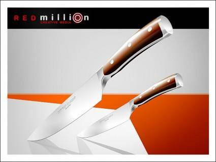 free vector Red Million Knives