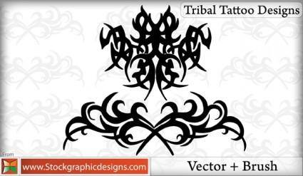 free vector Tribal Tattoo Designs