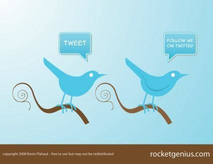 Twitter Style Bird Icons