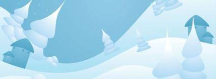 free vector Snow Landscape Vector