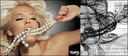 free vector Blonde beauty women