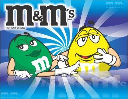 free vector M&M´s Chocolates