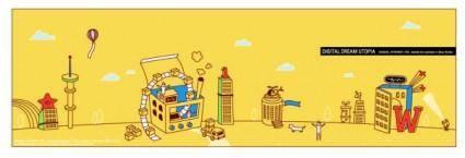 free vector Ai cartoon building vector