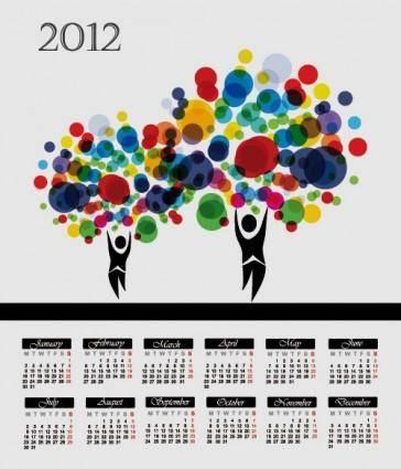 free vector Cartoon branches calendar 05 vector