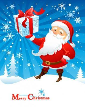 free vector Cartoon santa claus 02 vector