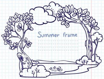free vector Handpainted cartoon lace 02 vector
