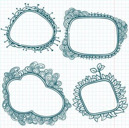 Handpainted cartoon lace 03 vector
