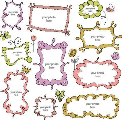 free vector Cartoon cute lace 01 vector