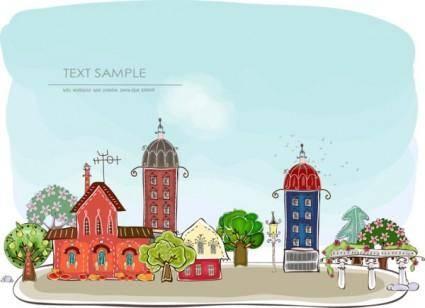 Cartoon urban element vector 2