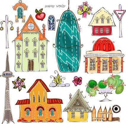 Cartoon urban element vector 3