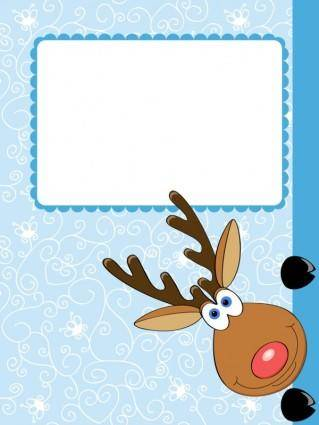free vector Cartoon christmas elk 04 vector