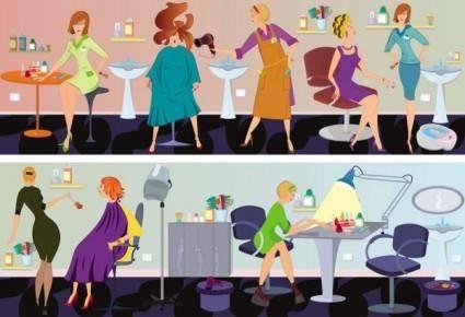 Barber cartoon illustration 03 vector