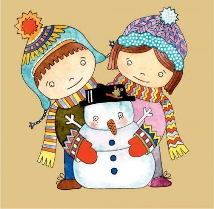 Christmas cartoon illustration 05 vector