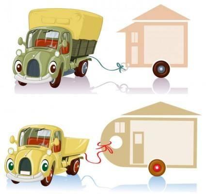 free vector Cartoon truck 04 vector