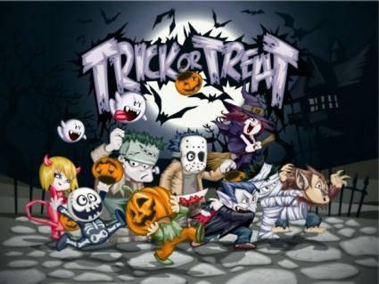 free vector Halloween cartoon vector