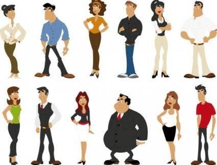 Cute cartoon characters 03 vector