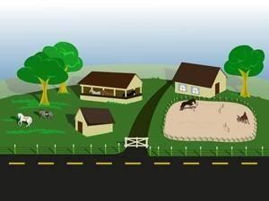 free vector Horse farm
