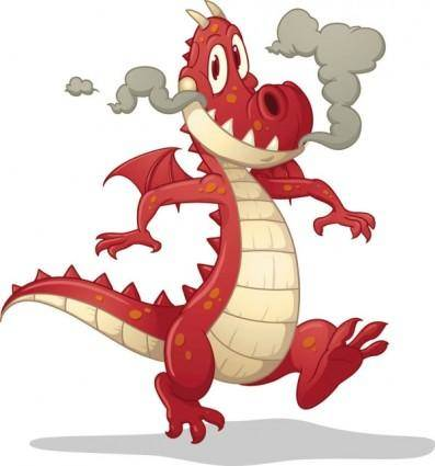 Cartoon dragon image 02 vector
