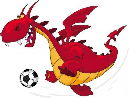 Cartoon dragon image 03 vector