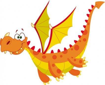 Cartoon dragon image 04 vector