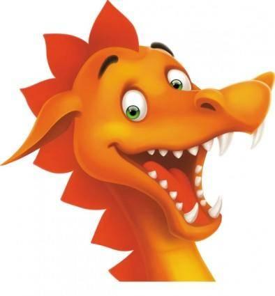 free vector Cartoon dragon image 05 vector