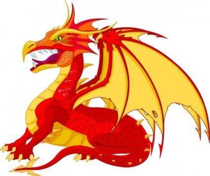 free vector Cartoon dragon 03 vector