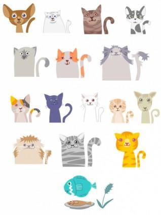 free vector Vector cartoon cat