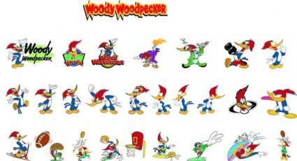 free vector Woody woodpecker cartoon clip art
