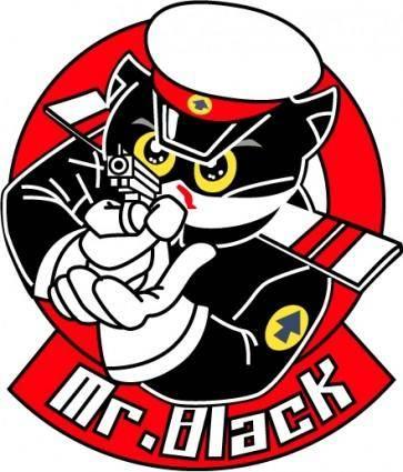 free vector Vector cartoon animals cartoon black sergeant