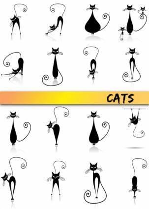 free vector Vector cartoon cat