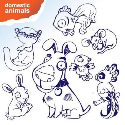 free vector Cartoon animals vector 1