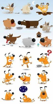 Vector cute cartoon dog