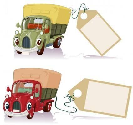 free vector Cartoon toy car 01 vector