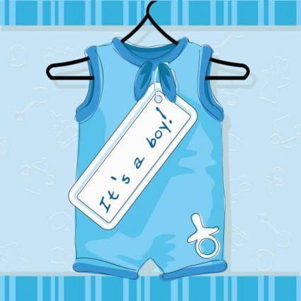 Cartoon children39s clothing 04 vector