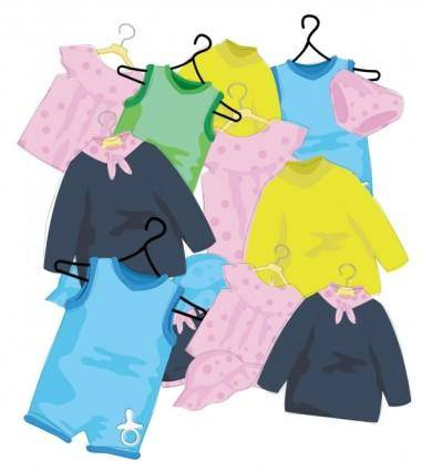 Cartoon children39s clothes 01 vector