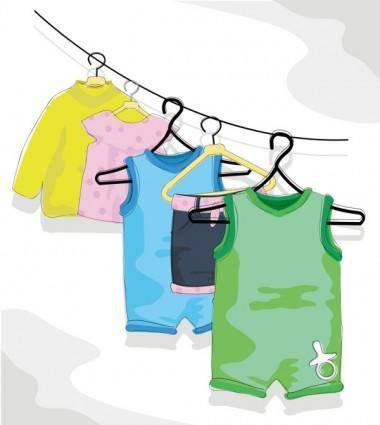 free vector Cartoon children39s clothing 02 vector