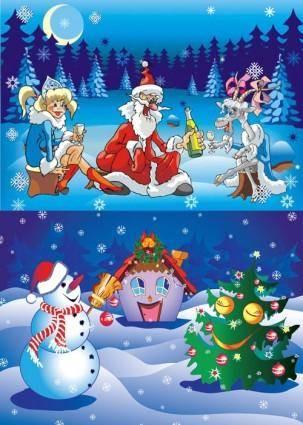 free vector Christmas cartoon vector