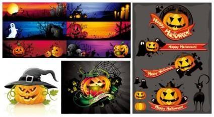 free vector Halloween cartoon images vector