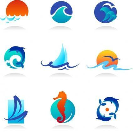 Waves cartoon graphics vector