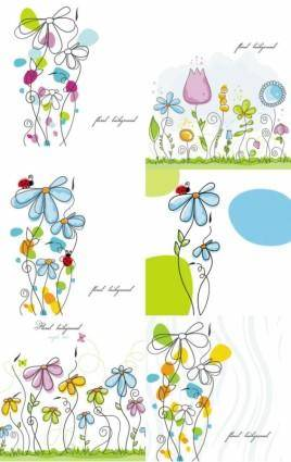 free vector Lines issued handpainted cartoon vector